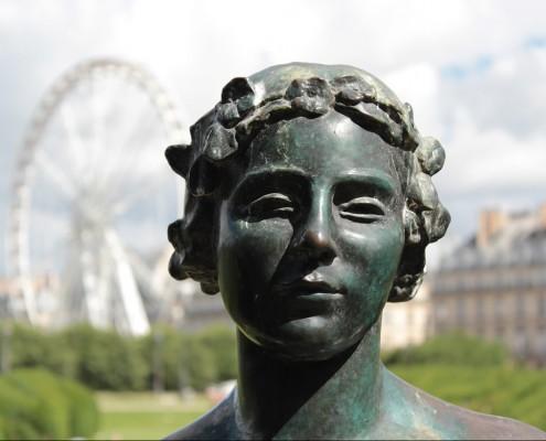 Standbeeld jardin du luxembourg. Een van de meeste bezochte parken in Parijs.