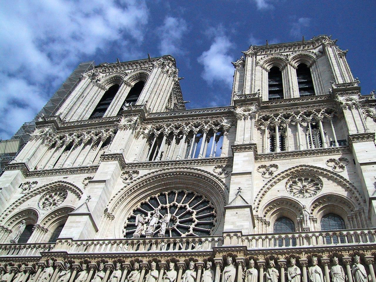zicht op de Notre-Dame