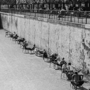 Jardin des Tuileries in Parijs. De tuinen van het voormalig koningshuis.